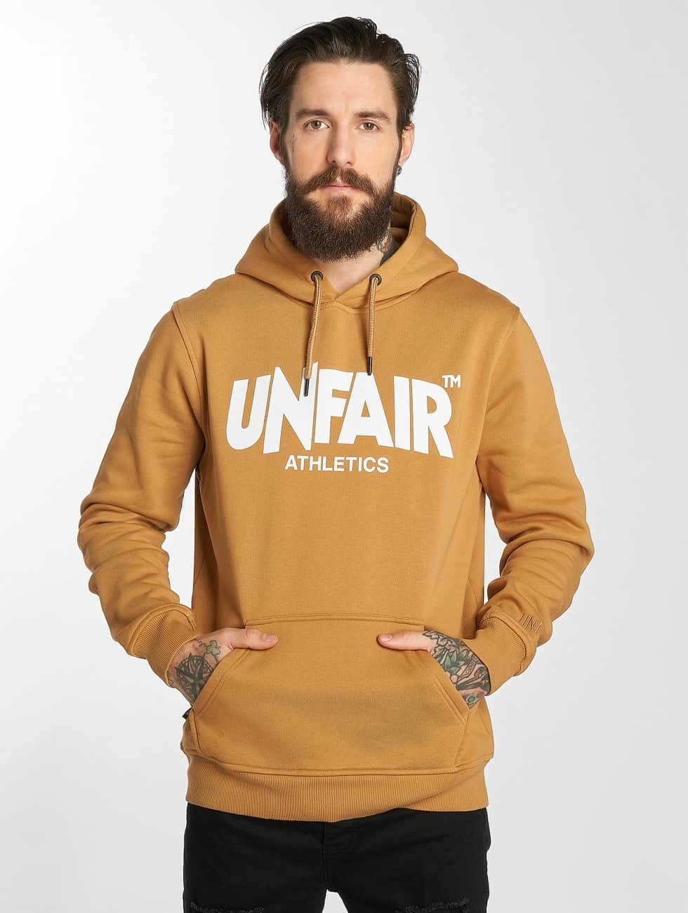 UNFAIR ATHLETICS Hoodie Classic Label brown