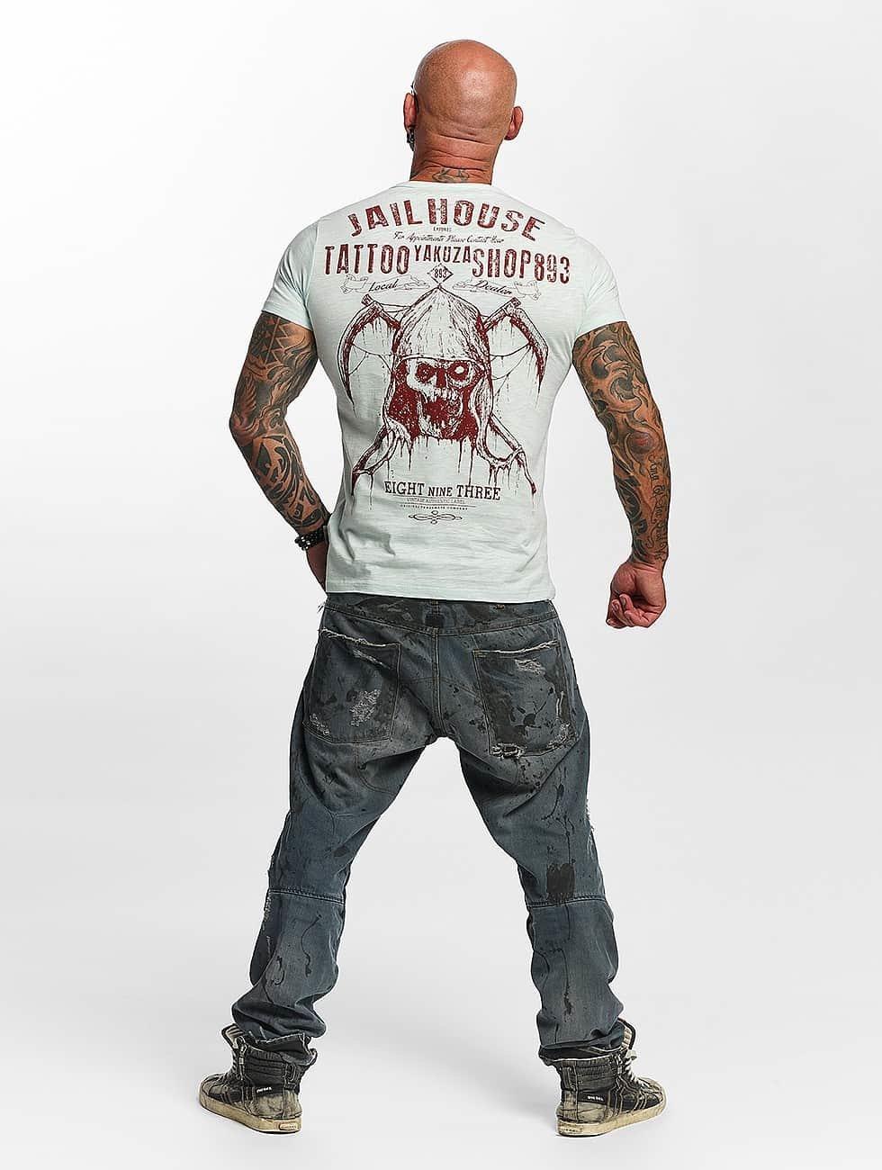 Yakuza T-Shirt Tattoo Shop blue