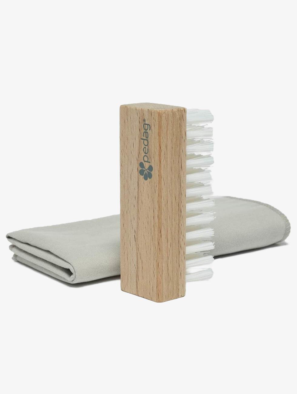 Pedag Shoe Care Cleansing Kit Brush & Microfiber colored