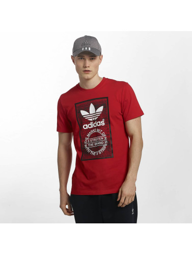 Adidas Originals Langue De Traction Hommes En Rouge