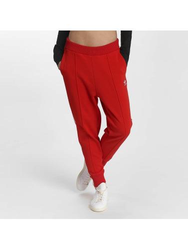 Adidas Originals Femmes Pantalons De Sport Piste Pantalon Originaux Rouge
