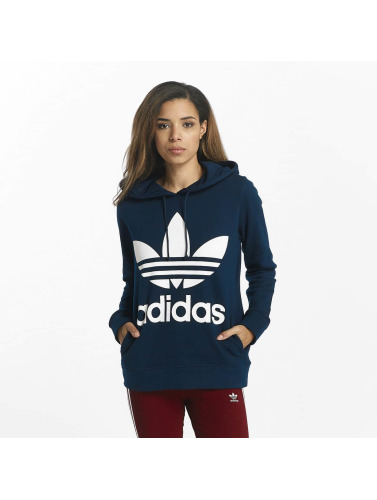 Adidas Originals Femmes Dans Lotier Sweat-shirt Bleu