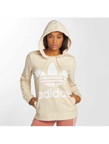 Adidas Originals Trefoil Hooded Femmes Dans Beis