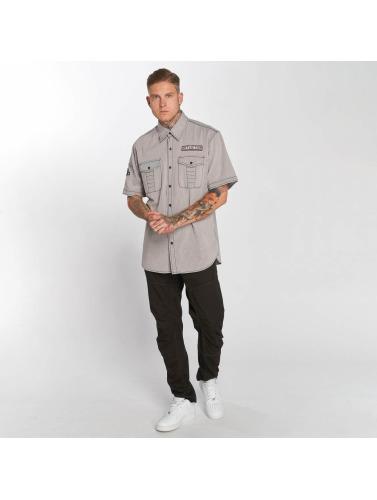 Affliction Hombres Camisa Tribbett En Gris recommander en ligne vente avec paypal 6pAeZrOyS