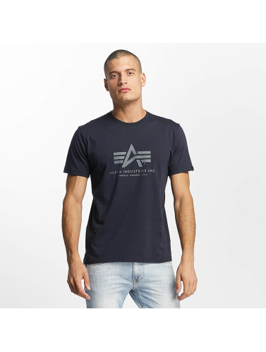Alpha Industries Hombres Camiseta De Base Dans Azul