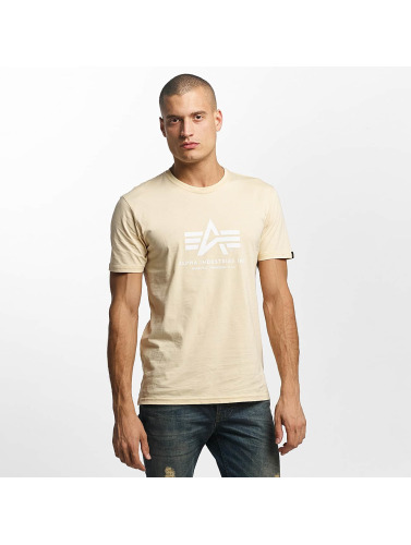 Alpha Industries Hombres Camiseta De Base Dans Beis