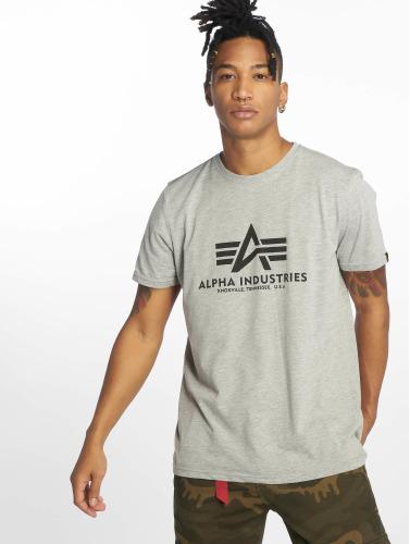 Alpha Industries Hombres Camiseta De Base En Gris express rapide cztXSyMPi