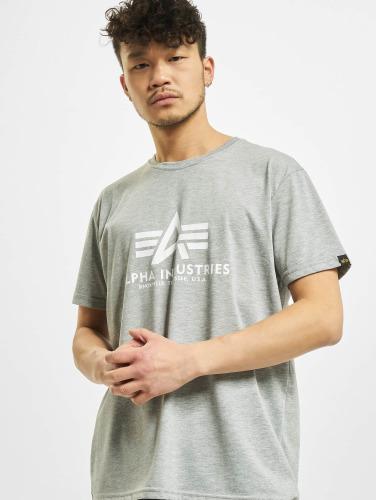 Alpha Industries Hombres Camiseta De Base En Gris
