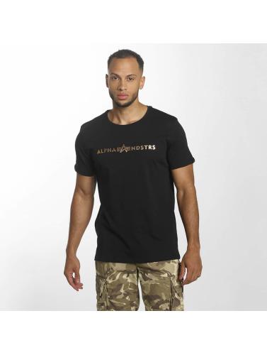 Alpha Industries Hombres Alphandstrs De Camiseta En Noir