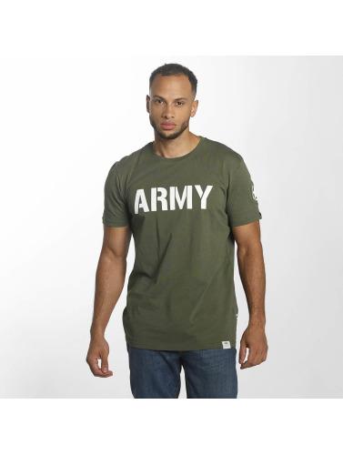 Alpha Industries Hombres Armée Camiseta À Oliva