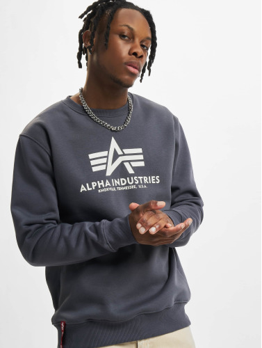 Alpha Industries Jersey Hombres De Base En Gris
