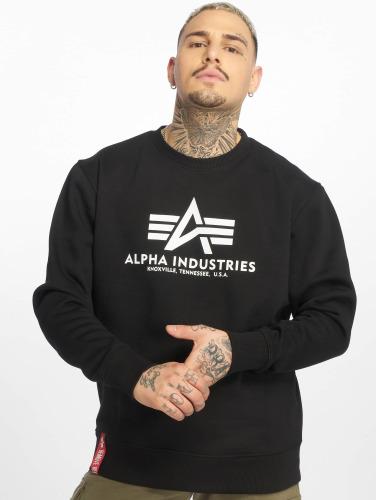 Alpha Industries Jersey Hombres De Base En Noir offres en ligne vfTQCw