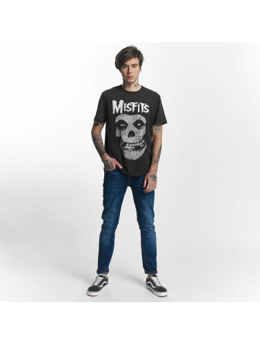 Hombres Amplifié Camiseta Crâne De Misfits En Gris pas cher fiable la sortie authentique original rabais vXI8de