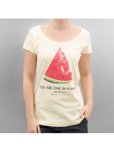 Style Authentique Mujeres Camiseta Fruits D'été En Amarillo de nouveaux styles prix d'usine prise avec MasterCard JSvP3