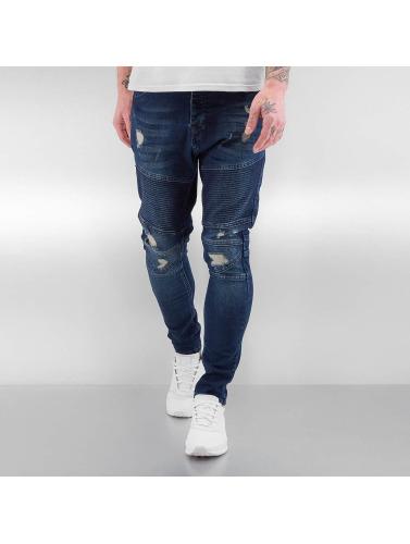 Bangastic Jeans Serrés Hommes Matelassés En Indigo