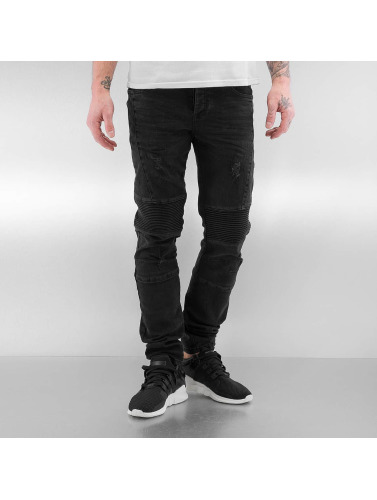 Bangastic Jeans Moulants Hommes Matelassés En Noir Iii