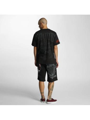 2014 nouveau vente exclusive Du Sang Dans Le Sang Sur Hombres Camiseta Lié En Noir rabais vraiment uXTvcxV5