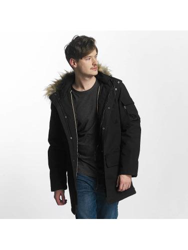 Âme Hommes Courageux Manteau D'hiver En Crinière Noire