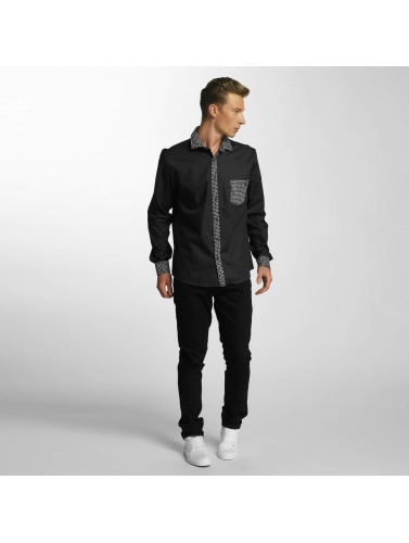 boutique d'expédition pour Cazzy Hommes Chemise À Carreaux Clang En Noir achat de sortie LvBBrPyQ