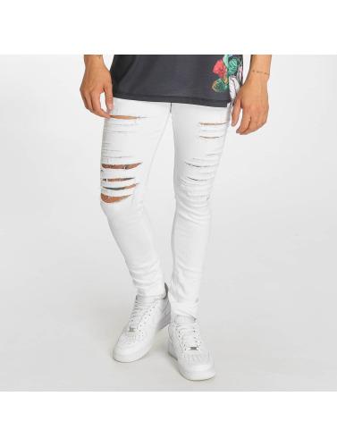 Hommes En Dommages Criminels Jeans Skinny Blanc Camden