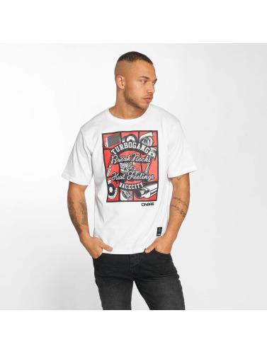 Dngrs Dangereux Hombres Ville Course Camiseta Carparts En Blanco