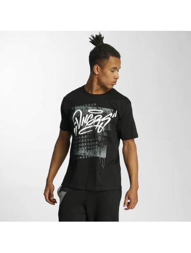 Dangereux Dngrs Hombres Camiseta Scratchwork Negro