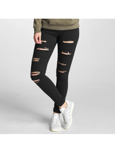 Coupe Def Femmes Jeans Skinny En Noir