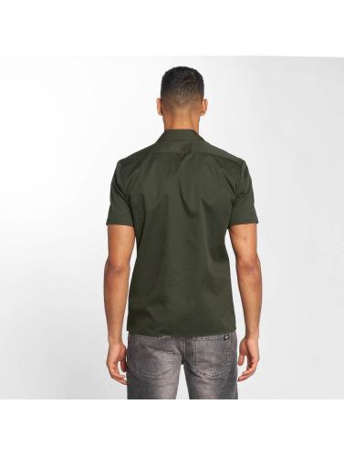 Plastrons Hombres Camisa Manches Courtes Mince Travail En Verde faux collections de dédouanement pas cher Finishline réduction ebay GBvxSadjT