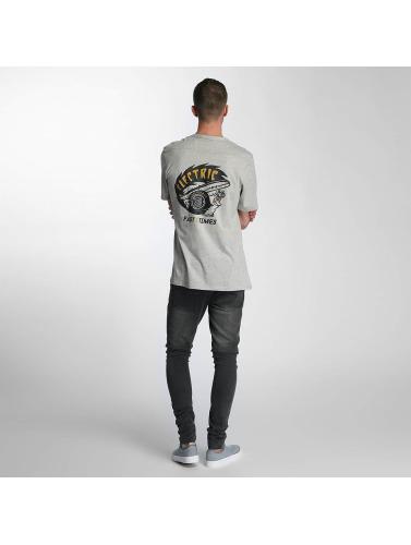 Hombres Électrique Camiseta Poche Temps Rapide En Gris magasin discount nd0pXRknx