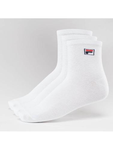 d'origine à vendre images de dégagement Fila Calcetines Chaussettes De Rue 3-pack En Blanco officiel parfait rabais vente de faux FHqeEW