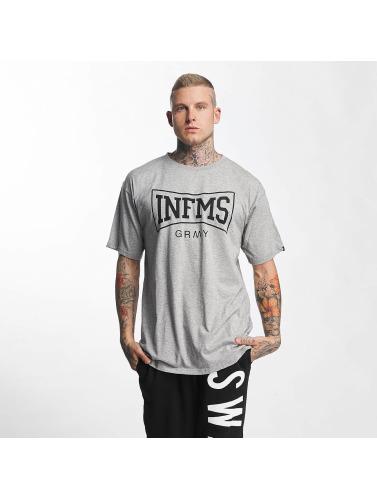 Crades Porter Hombres Camiseta Le Contrôleur D'accès En Gris