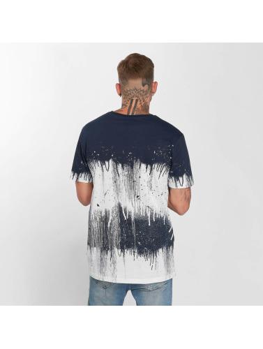 Azul Coulures Battage Plein Camiseta Hombres Dans xdCBoe