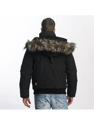 Khujo Hommes Basque Veste D'hiver En Noir vente Frais discount BhvXDOHw