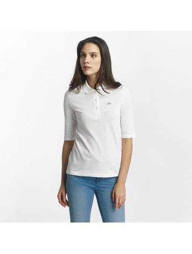 Lacoste Polo Femmes Classique En Blanc