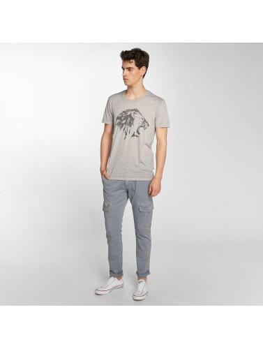 Jean Lion Mavi Hombres Camiseta Brodé En Gris vente prix incroyable jeu en Chine prix d'usine sortie multicolore RCLQhBut