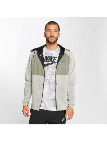 Nike Sweat-shirt Hommes En Polaire Gris Fermeture À Glissière Av15 jeu Footaction 100% garanti gratuit sites d'expédition eUl89tF