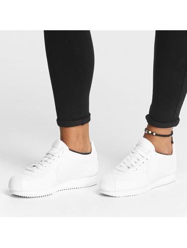 Vente en ligne Nice jeu Femmes Nike Chaussures Classiques Cortez En Cuir Blanc rabais pas cher réduction Nice Liquidations offres tB3Cnxsro0