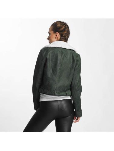 Seulement Simili Cuir Veste En Cuir Femmes Motard Onldanielle En Vert vente pas cher à la mode kONuk6db