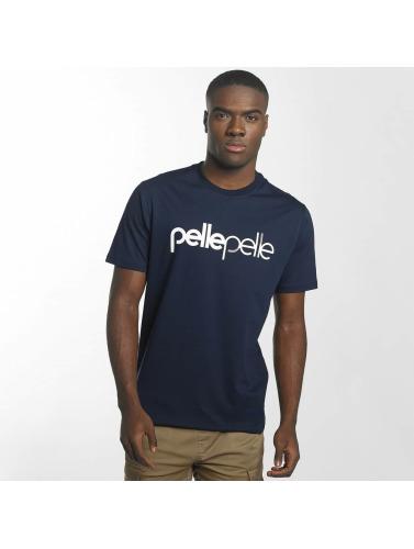 Hombres En Cuir Camiseta Dos 2 Bases En Azul