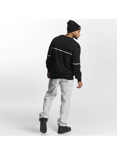 Pelle T-shirt Pelle Manches Longues Homme Plus De Base En Noir ordre de vente fX7HR6