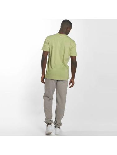 vente eastbay Manchester en ligne Hombres En Cuir Camiseta Dos 2 Bases En Vert RfpMNX