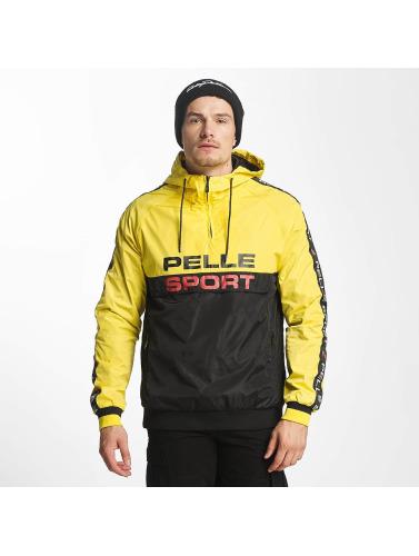 réduction Economique mode en ligne Pelle Hommes Veste En Entretiempo Pelle Jaune Vintage vente ebay GUmLfV
