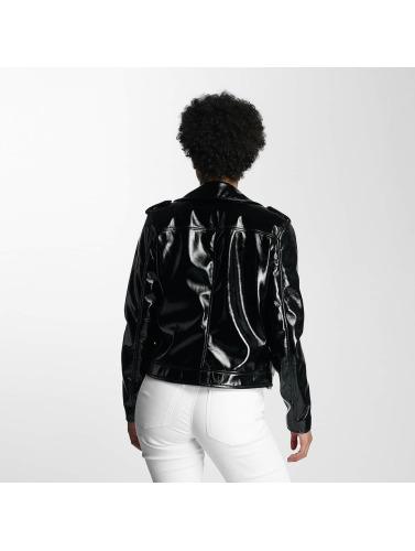 à la mode afin sortie Pièces Femmes Pcekim Veste En Cuir Noir choix rabais lOmhfu5