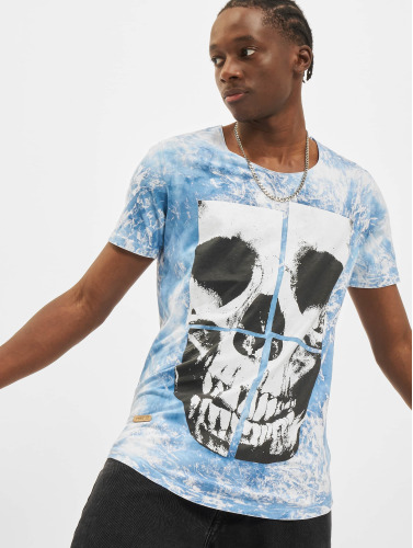 Crâne Dans Pont Azul Hombres Rouge Camiseta erdoWBxC