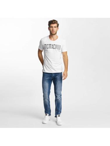 Hombres Pont Rouge Camiseta Mcmxciii Caractères Modernes Dans Blanco naviguer en ligne meilleur achat Livraison gratuite nouveau résistant à l'usure Mkf6P8