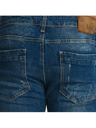 délogeant Pont Rouge Hombres Jean Ajustado Intérieur Détruits Dans Azul incroyable collections bon marché sortie nouvelle arrivée GJWZjib97