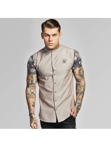 classique en ligne Sik Soie Hombres Contraste Camisa Oxford Dans Beis Livraison gratuite qualité 0MocrAHvuk
