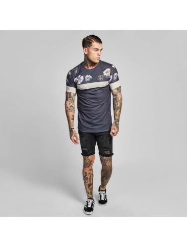 Sik Soie Hombres Camiseta Sports Ourlet Courbes En Gris débouché réel collections de dédouanement déstockage de dédouanement SORIDg08P