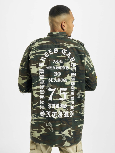Sixième Juin Hombres Camisa Overshir Surdimensionné En Camuflaje jeu images footlocker jYWWzzxT6