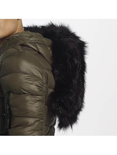 jeu ebay Sixième Juin Hommes Veste D'hiver En Forme Régulière Puffa En Uniforme Kaki faible frais d'expédition QRpH3